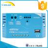 Regulador de carga solar Epever 10A 12V com USB 1.2A Boost Carregando carregamento solar
