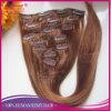毛の拡張のインドのRemyの人間の毛髪の銅クリップInsの継ぎ目が無い二重Weftクリップ
