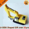 Movimentação do flash do USB da máquina escavadora do PVC 3D para presentes da promoção (YT-Máquina escavadora)