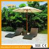 Im Freiengarten-Pool-Möbel-Rattan-wellenförmiges Form-Klappstuhl-Weidenliegenaufenthaltsraum-Bett