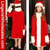 Traje de lujo de la Navidad de Santa para las mujeres