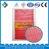 Мешок сетки красного цвета L-Shaped с логосом клиента золота для Vegetables&Fruits