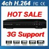 4CH H. 264 mobiler Radioapparat DVR CCTV-3G