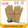 Промышленная безопасность Теплые зерна кожаный водителя Рабочие перчатки (12203)