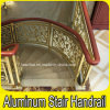 Hotel Escalera espiral de aluminio de lujo Interior Latón Baranda