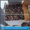 Pedras naturais do granito de Tan Brown para telhas de revestimento da parede, bancadas