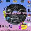 Câble d'unité d'extension de HDMI : Le blanc 50m avec de l'or 24k a plaqué le mâle des connecteurs 19pin 19pin au mâle 1.4version 1080P pour l'Ethernet TVHD 3D