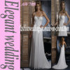 Платье венчания Aw708 Neckline Halter шифоновое вышитый бисером