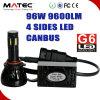 2PCS純粋で白い高い発電LEDの霧の運転ヘッド電球極度の強力な車のヘッドライトH11