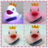 PVC Rubber Duck com diodo emissor de luz Light, diodo emissor de luz Light acima de Princess Duck, diodo emissor de luz Flashing Rubber Duck