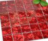 Mosaico di vetro rosso del PVC (TG-FY-091)