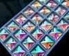 Naai op Vierkant 10mm22mm van de Parels van het Kristal van de Steen van het Kristal van de Steen van het Glas