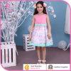 Diseños de los vestidos de los niños, ropa del niño del Organza, ropa de los cabritos, alineada de la muchacha