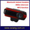 Écouteur d'intercom de Bluetooth de casque de motocyclette (800 mètres)