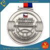 Medaglia d'argento antica su ordinazione di sollevamento di peso del ricordo del metallo