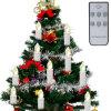 無線リモート・コントロールクリスマスツリーは暖かいライトの良否を明りにすかして調べる