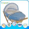 Velvet azul Moses Fácil-Carry Basket para Newborns