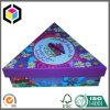 Коробка лоснистых ювелирных изделий картона треугольника цвета бумажная упаковывая