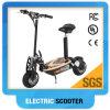 Revisão motorizada do trotinette de motor para adultos/o velomotor elétrico trotinette do verde
