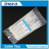 Weiße selbstsichernde kalte beständige Nylonkabelbinder