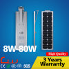 80W Super Bright 6000k lampe de rue LED tout en un