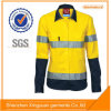 Hot Selling Long Sleeve Salut Vis Reflector Workwearl Chemise de travail