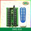 Émetteur et récepteur de Digitals de la Manche de dc 16 de Smg-816 12V