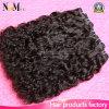 水波のUnprocesseのよく厚い毛のWeftブラジルのバージンの毛