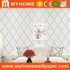 Papier peint rayé blanc de prix bas pour la décoration de mur