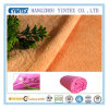 Tissu 100% de corail de toison tricoté par peluche de Microfibre de polyester
