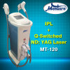 ND à commutation de Q : Machine d'enlèvement de cheveux de chargement initial de déplacement de tatouage de laser de YAG