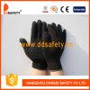 Gant noir tricoté de PVC (DKP138)