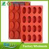 Moulage ovale de chocolat de biscuit de traitement au four de gâteau de silicones de 2 paquets