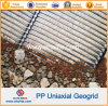HDPE plástico PP Geogrids uniaxial los 80kn/M