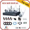 Nuevos kits del CCTV de los kits del software libre 4CH WiFi NVR del diseño