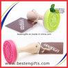 Sello de encargo del silicón del sello de la galleta de la nueva maneta de madera suave y sano