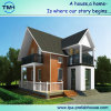 Casa clara a favor do meio ambiente da casa de campo da construção de aço