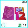 Nueva tarjeta 2016 de la invitación de los artes de papel del regalo del asunto de China 7 pulgadas del LCD de folleto del vídeo