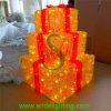Outdoor DecorationのためのLED 3D Gift Box Motif Lights Motif