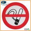 연기가 나는 플라스틱 경고 표시 없음, 금지 표시