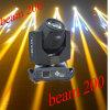 Luz principal móvil de la viga del precio al por mayor 5r 200W