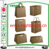 Kraft Paper Shopping Portable Bag con Handle para Supermarket