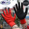 Nmsafety Cheap Red Polyester Coated Latex Gloves Hot Sale в Польше