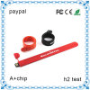 USB Flash Drive браслета, USB Flash Drive Rubber Wristband, USB Color Wristband, 2GB Flash Drive