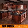 Armários de cozinha clássicos da madeira contínua da venda quente (OP12-L012)