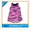 女性SpandexかPolyester Custom Sport Wear Running Active Top、Gym Stringer Singlet