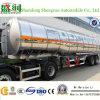 Новый трейлер топливозаправщика пищевого масла алюминиевого сплава обязанности 45cbm 3axle светлый