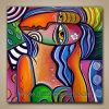 Het met de hand geschilderde Abstracte Eigentijdse Moderne Schilderen van het Pop-art (klsjpa-0004)