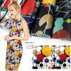 Tissu de popeline de satin estampé par modèle neuf pour le vêtement, textiles à la maison