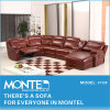 居間の家具のソファーデザイン、現代革リクライニングチェアのソファー